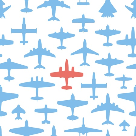 Transport and navy airplanes seamless background Stock Vector - 12837411