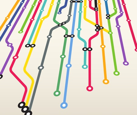 Abstract color metro scheme background Vector