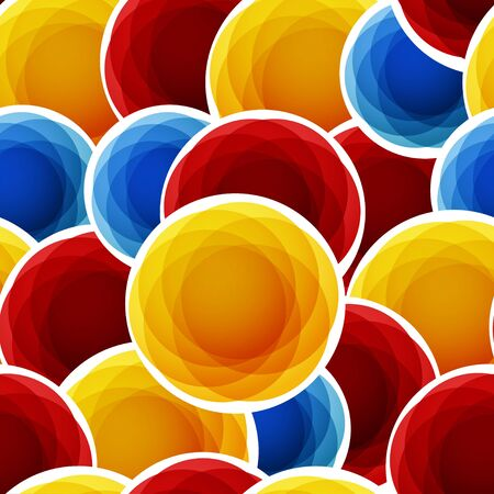 Color abstract bubbles seamless background Vector
