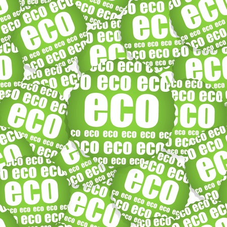 ECO paper sticker, Seamless texture Vector