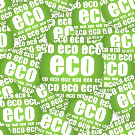 ECO paper sticker, Seamless texture Vector