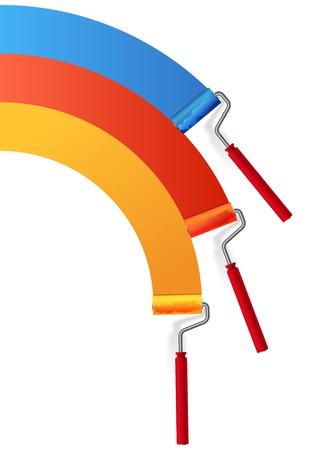 Verfrollen en verschillende kleuren Vector Illustratie