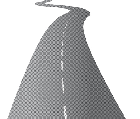 winding road: The long and winding road Illustration