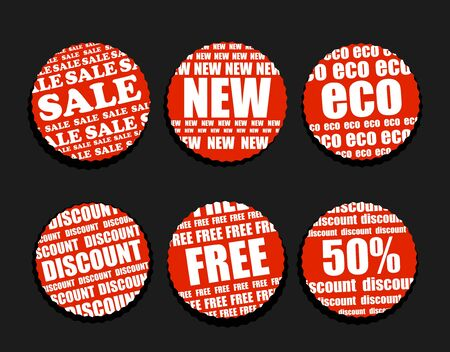 Six Shopping discount labels collection Vector