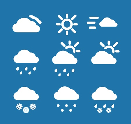 Weather conditon icons collection Stock Vector - 13102332
