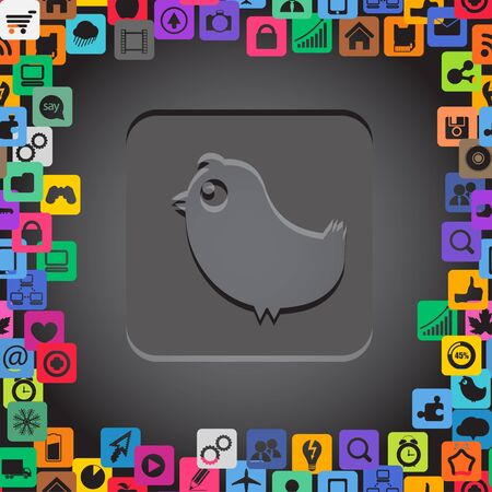 it background: Abstract communication symbol with media icons