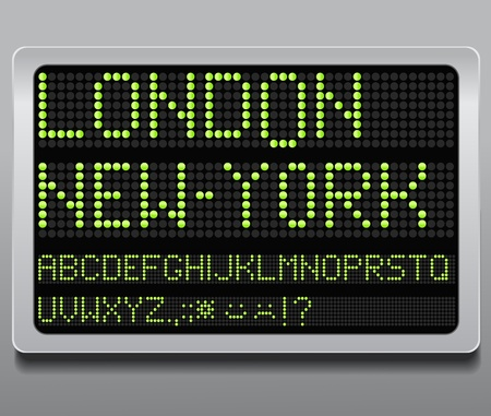 display type: Information led board