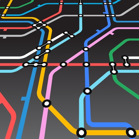 Abstract background of metro scheme Illustration