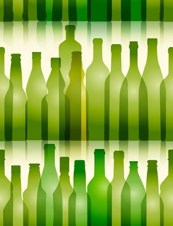 Glass bottles seamless background Stock Vector - 13407943
