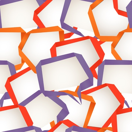 Background of abstract talking bubbles  Seamless texture Vector
