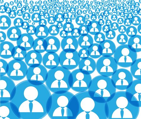 Abstract crowd of social media account icons Vector