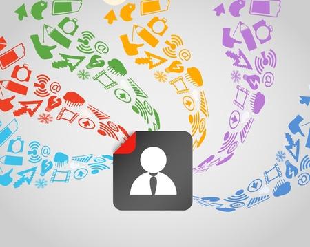 voting: Moderne Social-Media-Inhalt str�mt avatar Illustration