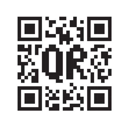 identifier: Monochrome QR code abstract template