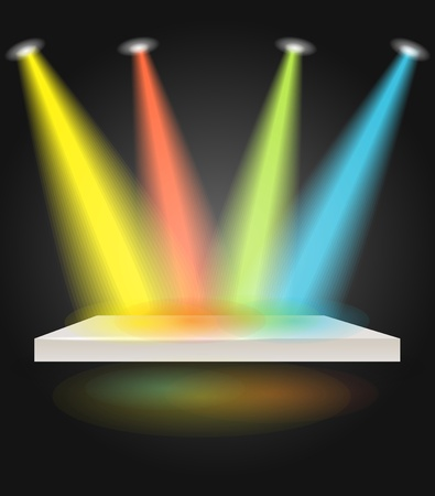Stage with spot lights Stock Vector - 13506925