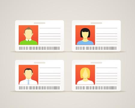 Bộ sưu tập của một thẻ id với những người dễ thương