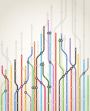 Streszczenie metro kolor tła programu