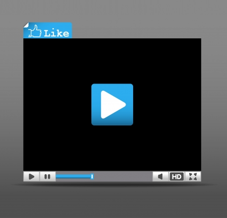 video player: Web player for social media sites interface template