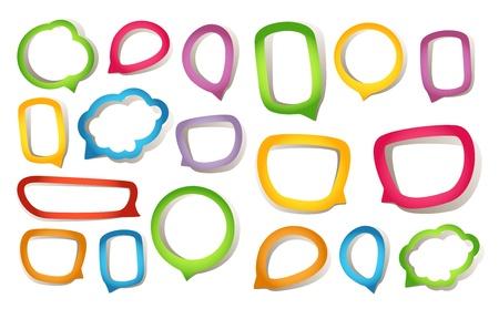 dialogo: Color de las nubes de papel del habla Vectores