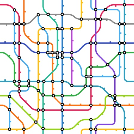 tube station: Abstract color metro scheme seamless background
