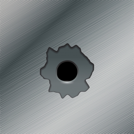 ricochet: Illustration of gun bullet s holes Illustration