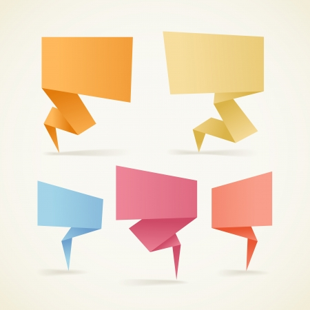 your text here: Colorful polygonal origami banners  Place your text here