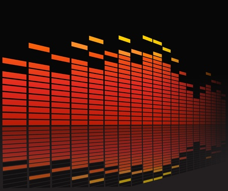 Graphic equalizer in perspective Vector