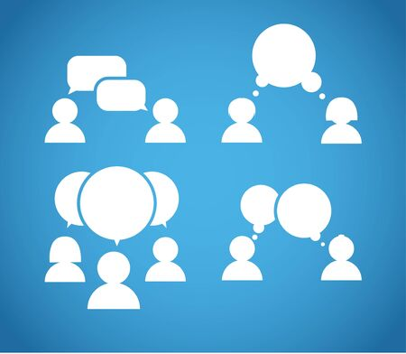 Sillhiuettes of talking people collection Vector