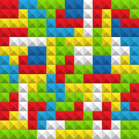 tetris: Abstract seamless background of color game figures