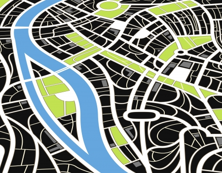city by night: Abstract city map illustration