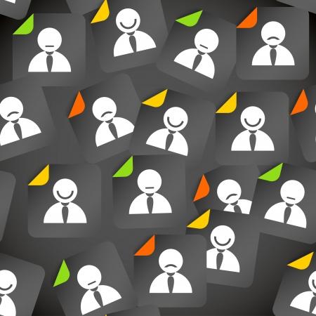 Abstract menigte van sociale media met avatars Naadloze achtergrond Vector Illustratie