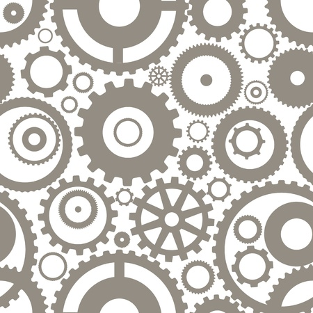 Seamless texture or different gear wheels Stock Vector - 13843639