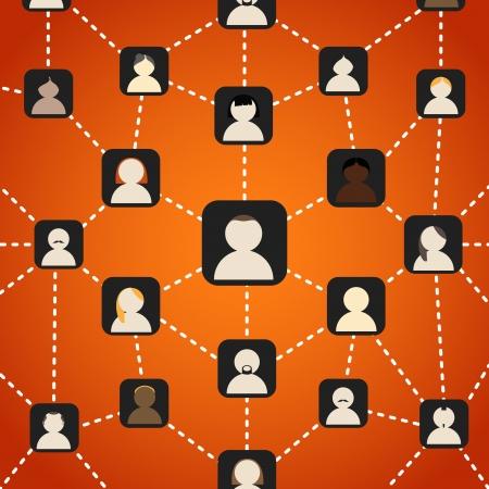 comunity: Scheme of social network