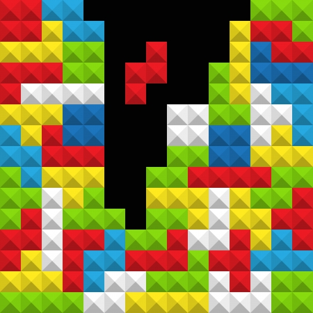 tetris: Abstract background of the color game figures Illustration