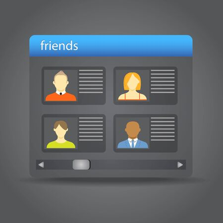 Friends collected on friend board Vector