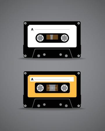 analogue: Vintage analogue music recordable cassette  Illustration Illustration