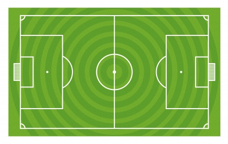 touchline: Green football field template