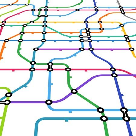estación del metro: Resumen de color esquema de metro en la perspectiva