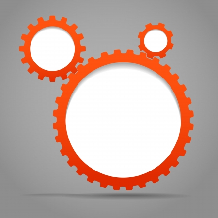 Abstract speecj clouds of gear wheels  Template for a text Vector