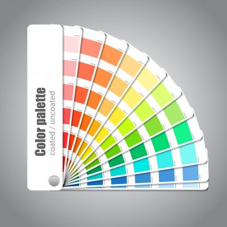 Kleurenpalet gids op een grijze achtergrond