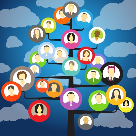 arbol geneal�gico: �rbol de la comunidad Resumen con los avatares de los miembros