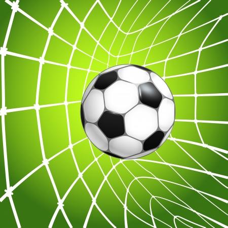 crossbar: Football  soccer  ball in a net  Goal