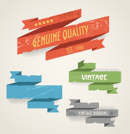 Colorful polygonal origami vintage banners  Place your text here Vector