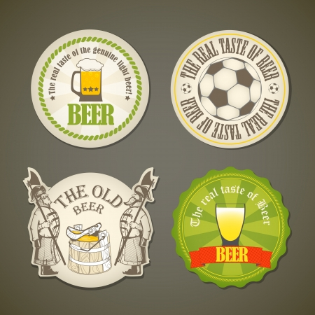 beer drinking: Vintage beer labels collection Illustration