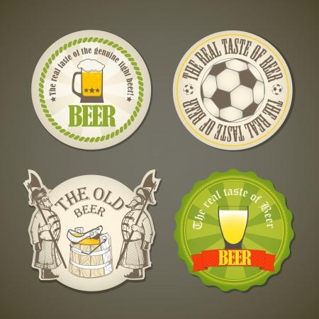 barrels set: Vintage beer labels collection Illustration
