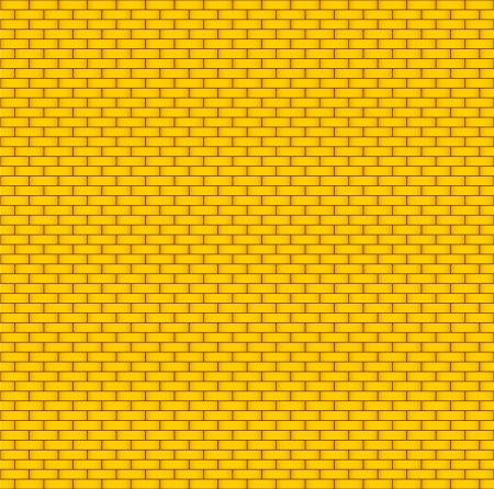 Yellow brick wall  Seamless background Vector