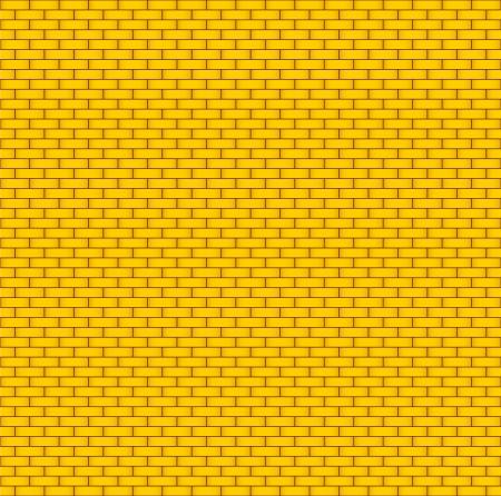 abandoned building: Yellow brick wall  Seamless background Illustration