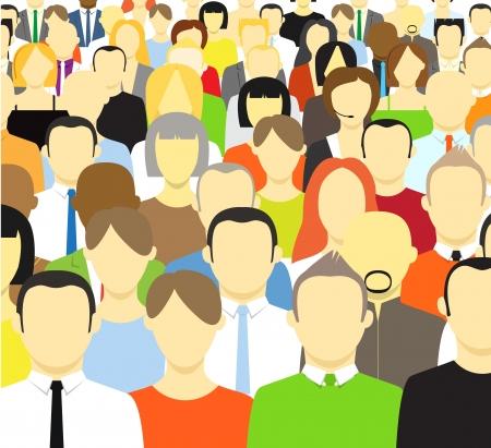 multitud: La multitud de resumen ilustraci�n vectorial personas