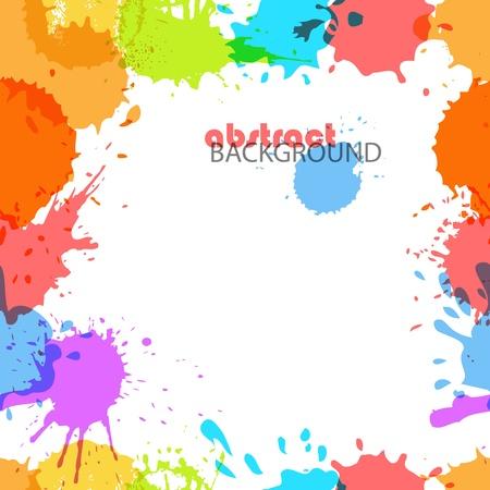 splodge: Color ink blots seamless background