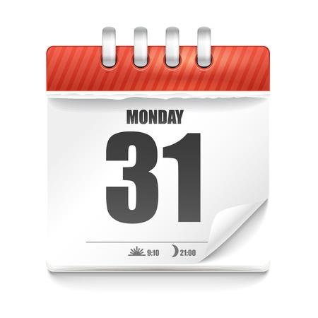 kalender: Papier-Tagebuch mit Sonnenuntergang und Sonnenaufgang Zeit Illustration