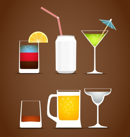 shots alcohol: Beverages vector collection